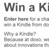 doxo Kindle contest form